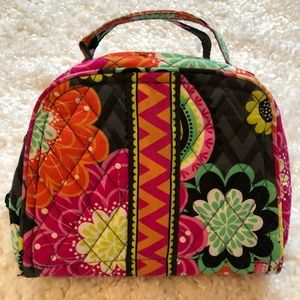 Vera Bradley Ziggy Zinnia travel jewelry case